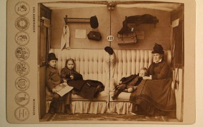 Софья Ивановна Юргенсон 1842-1911 с детьми Борис, Александра и Григорий